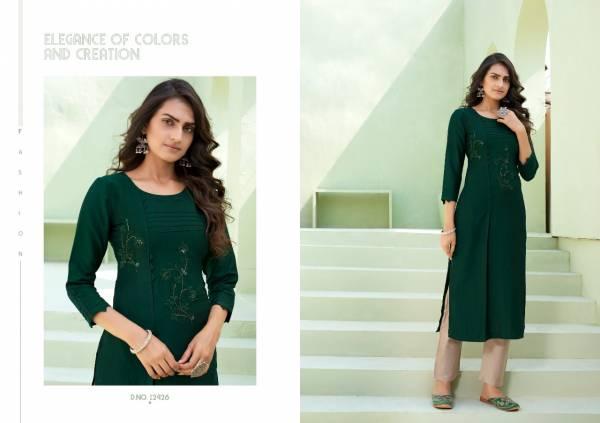 Kalaroop Octavia Vol 7 Lining Silk Withn Designer Hand Work Kurtis Collection