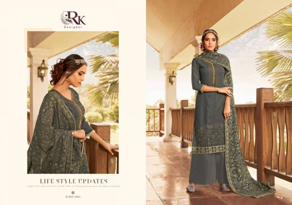 RK Designer Nikash Georgette with Machine Diamond Work Trending Look Palazzo Suit Collection