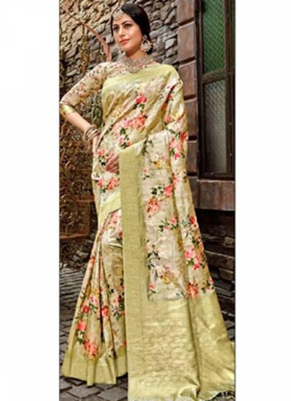 Lifestyle Hansmala Series 68281-68286 Lichi Silk Butta Rich Pallu With Digital Print Reception Wear Sarees Collection