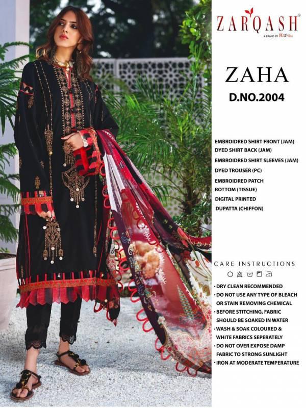 Khayyira Zaha Jam Satin Cotton With Designer Embroidery Work Pakistani Suits Collection 2004-2007