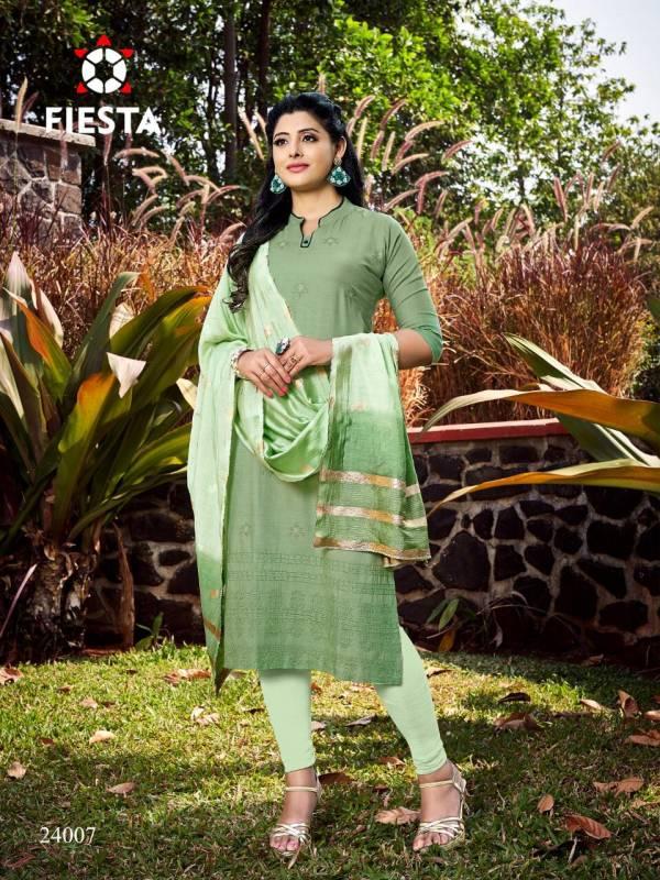 Fiesta Harley Rayon Lakhnavi Style Daily Wear Readymade Salwar Suit Collection