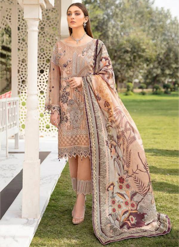 Rinaz Fashion Ramsha Vol-7 Georgette With Heavy Embroidery Work Designer Pakistani Suit Collection