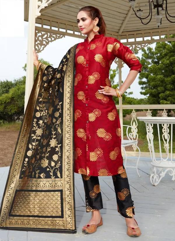 Fashion Valley Dress Jannat Vol 1 Series 101FV-105FV Banarasi Jacquard With Half Santoon Inner Festival Wear Readymade Suits Collection