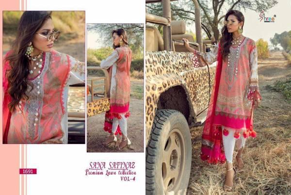 Shree Fab Sana Safinaz Vol 4 Pure Lawn Cotton With Patch Work Pakistani Suits Collection