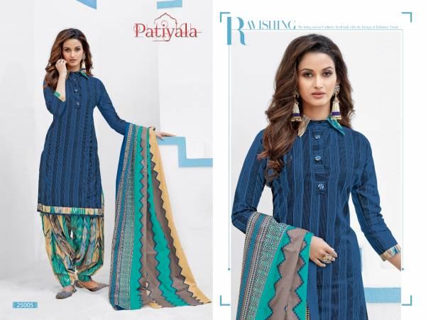 Ganesha Patiyala Vol 25 Series 25002-25013 Pure Cotton Exclusive Casual Wear Patiyala Style Suits Collection