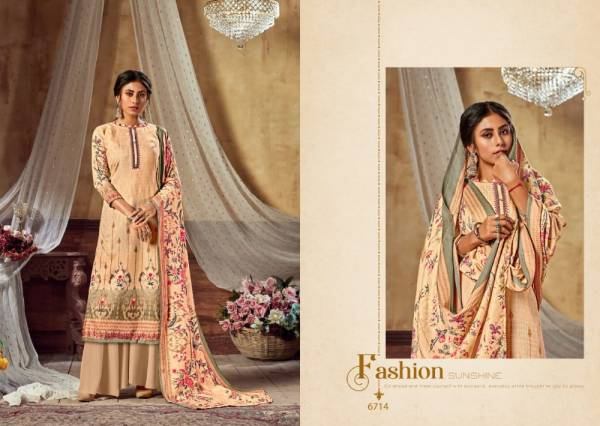 Levisha Kohinoor Vol 2 Series 6713-6722 Satin Cotton Digital Style Printed Regular Wear Palazzo Suits Collection