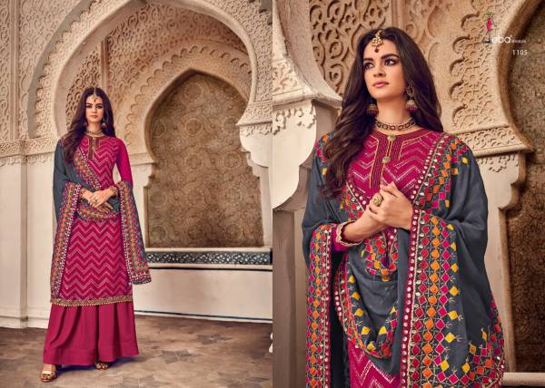 Eba Lifestyle Mount Black Vol 4 Series 1103-1107 Semi Pure With Heavy Embroidery Work Latest Designer Palazzo Suits Wholesale Collection