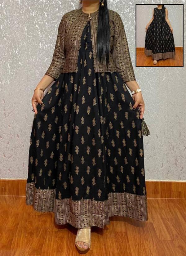 Banwery Premium Cotton Printed Koti Kurti Gown Collection