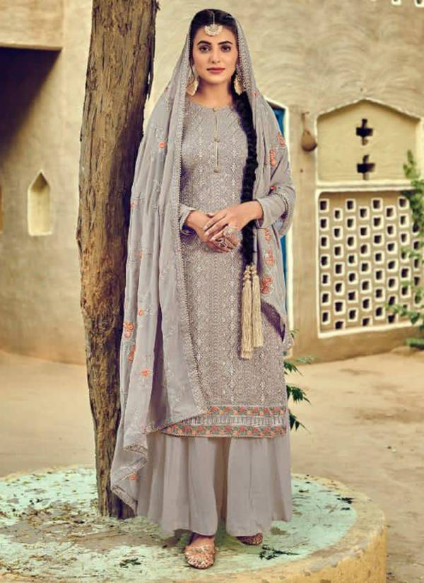 Eba Lifestyle Jassi Series 1195-1199 Faux Georgette With Heavy Embroidery Work Latest Designer Palazzo Suits Collection
