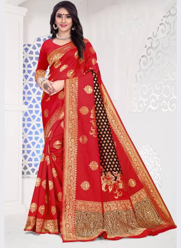 Kodas Sanyog Series 8325A-8325F Handloom Cotton Silk With Jacquard New Designer Party Wear Sarees Collection