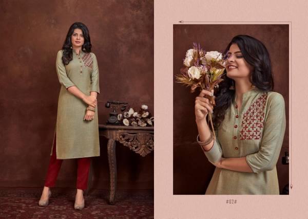 Lilly Raji Vol 1 Series 01-06 Two Tone Rayon With Gota Patti & Khatli Embroidery Work New Designer Kurtis Collection