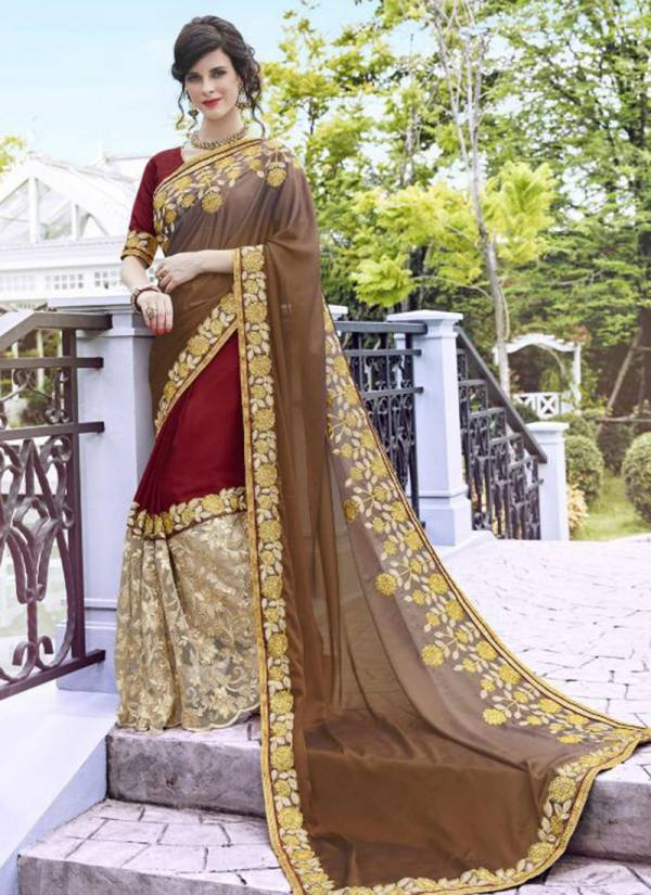 Kalista Fashion Akshara Series 4001-4006 Rangoli Georgette & Crepe With Embroidery Work Latest Designer Festival Wear Sarees Collection