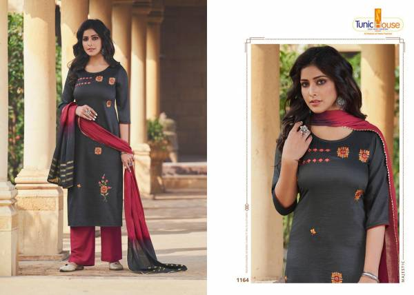 Neha Fashion Nippon Vol 3 Chinnon Stripe With Work Readymade Salwar Suits Collection