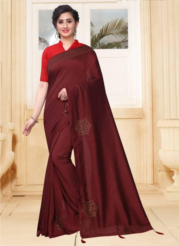 Nari Fashion Serotina Series 2581-2590 Vichitra Two Tone Silk With Heavy Swarovski Stone Work Sarees Collection
