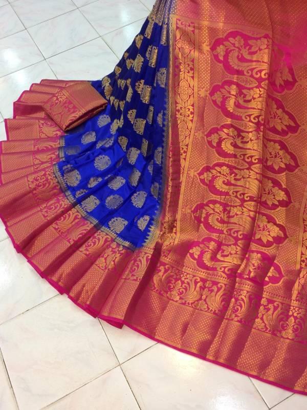 Nakshatra Fashion Studio Nylon Silk With Zari Weaving Reach Pallu Festival Wear Designer Sarees Collection
