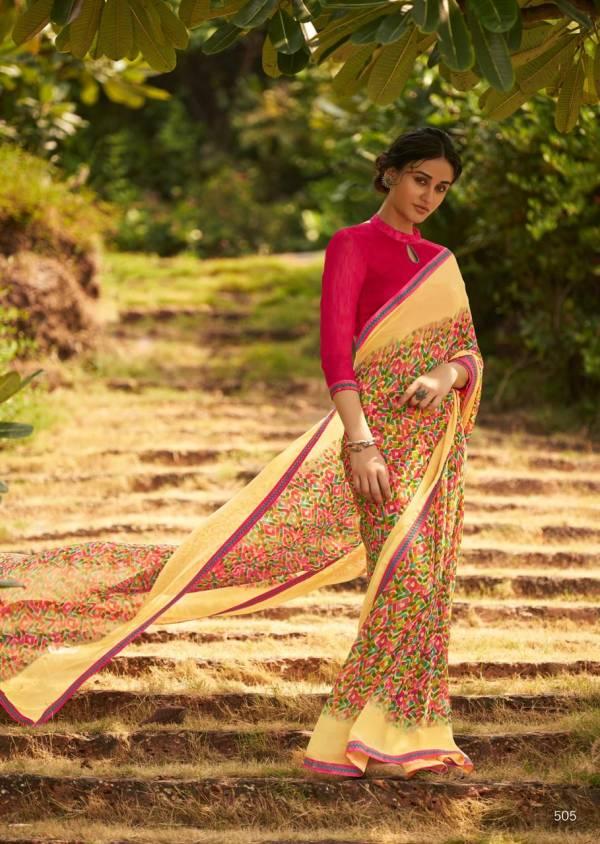 Kashvi Creation Falak Weightless Fancy Print Casual Wear Sarees Collection