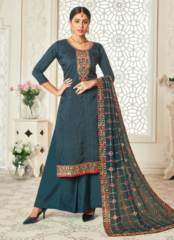 Lavina Vol 119 Pure Upada Silk With Embroidery Work Festival Wear Palazzo Suits Collection