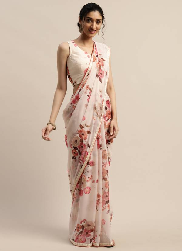Kesari Exports PFB-2 - PFB-42 Pure Chiffon Organza & Nylon Viscose Cotton Silk Digital Print Designer Casual Wear Sarees Collection
