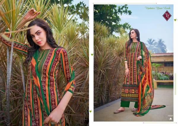 Tanishk Fashion Ahrum Pure Jam cotton Bandhani Digital Print Work Designer Palazzo Suits Collection