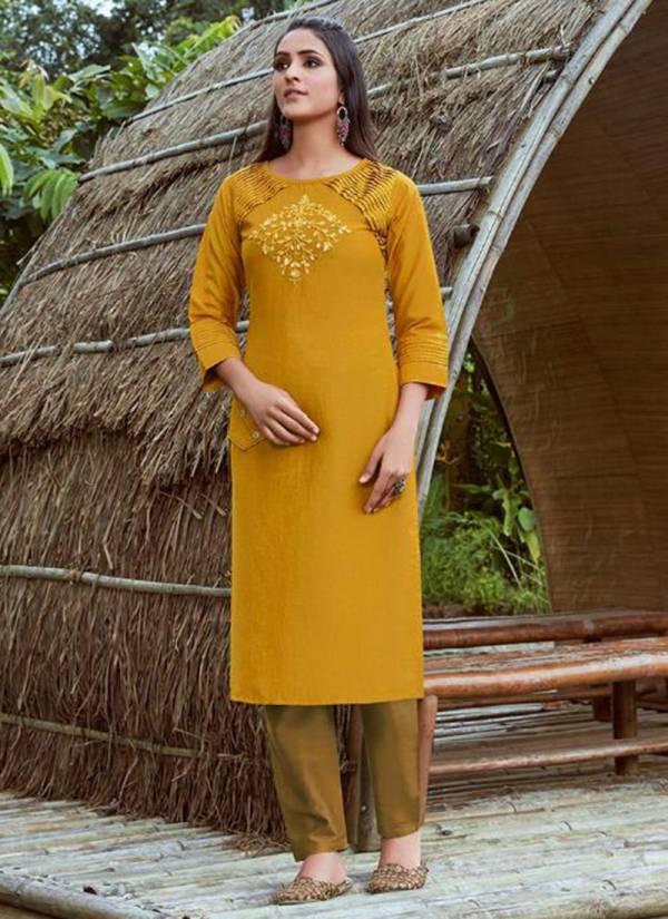 Kajree Octavia Vol 3 Series 12169-12174 Lining Silk With Fancy Hand Work Designer Festival Wear Kurti Collection