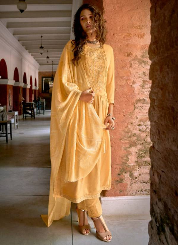 Ibiza Glamour Series 730-736 Latest Pure Pashmina With Embroidery Work Special Winter Wear Suits Collection