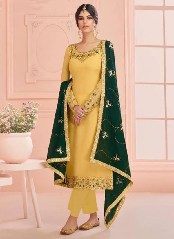 Aashirwad Mehar Series 7203-7208 Real Georgette Traditional Wear & Festival wear Latest Designer Salwar Suits Collection