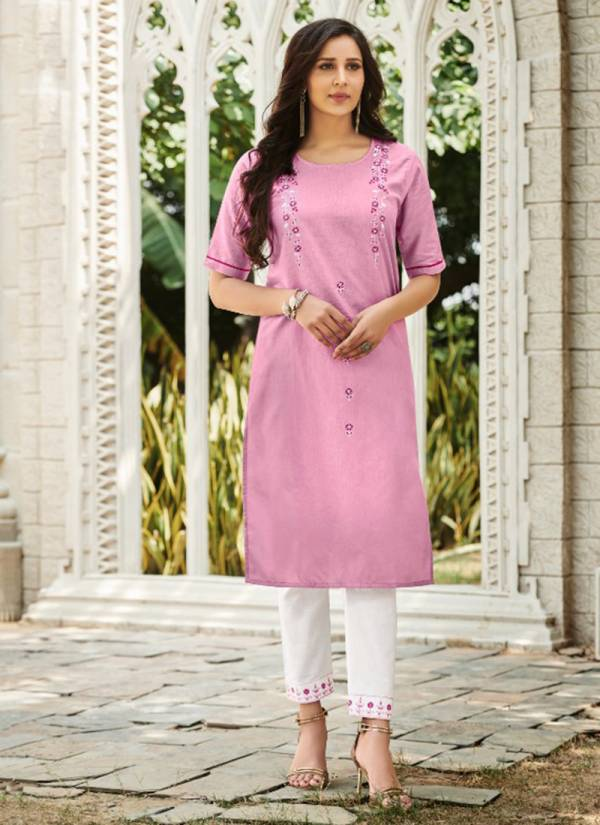 R Studio Tarasa Vol 1 Series 1001-1006 Heavy Cotton Flax With Fancy Work Kurti With Pant collection