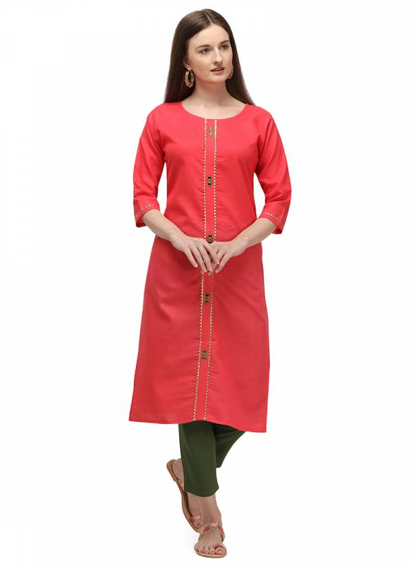 Velentino Trend Series SL018A-SL021A Ruby Cotton With Embroidery Work Fancy Daily Wear Kurtis Collection