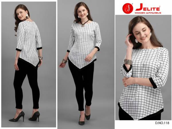 Jelite Tulip Vol 3 Polyester Crepe Latest Designer Fancy Tops Collection