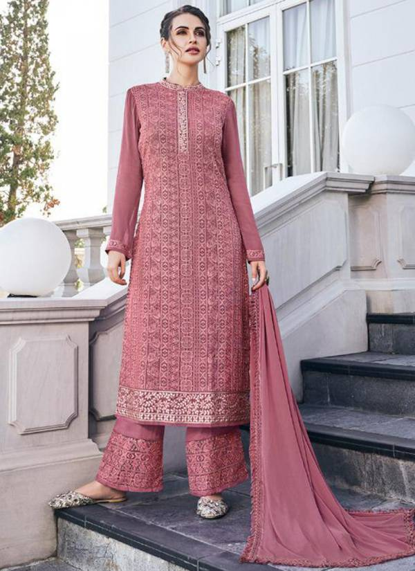 Vamika Simona Vol 2 Series 41006-41011 Georgette With Dull Santoon Inner Fancy Lucknowi Work Suits Collection