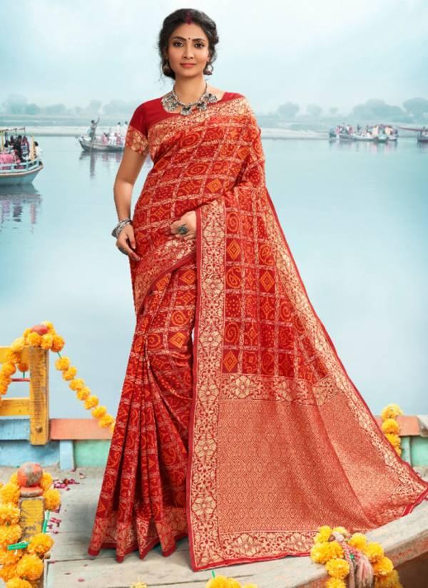 Asisa Bandhani Series 7301-7302 Soft Silk With New Bandhani Shade Designer Sarees Collection