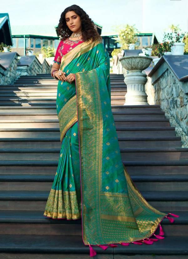 Royal Vrindavan Vol 11 Series 10080-10087 Pure Banarasi Silk Latest Designer Wedding & Party Wear Sarees Collection