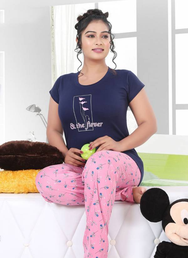 Kavansika Night Suit Vol 593 Series 593A-593F Premium Hosiery Cotton Latest Fancy Night Suits Collection