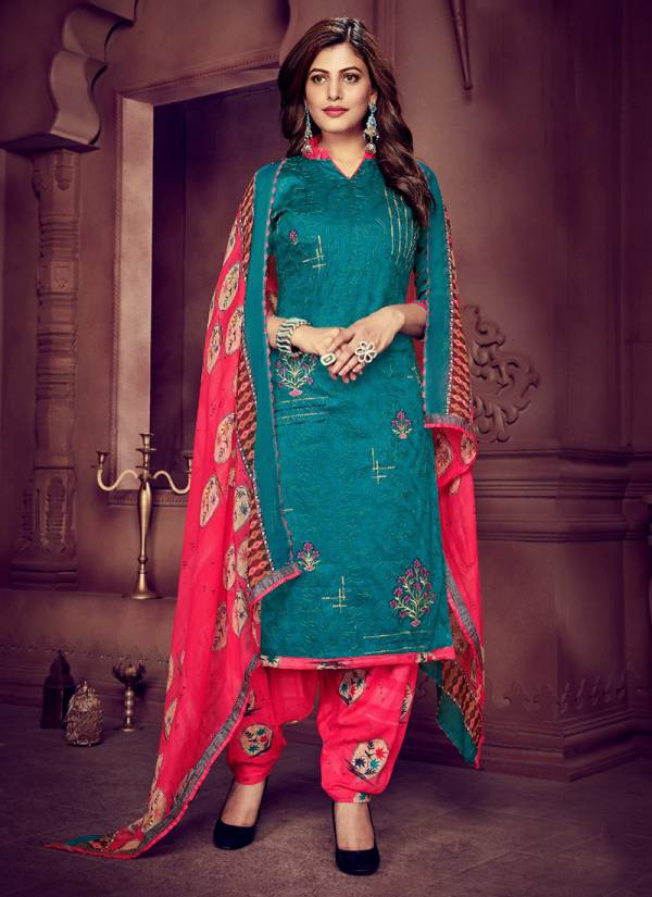 JT Suits Aarohi Series 1001AAROHI-1008AAROHI Pure Jam Cotton Printed Work Designer Fancy Look Suits Collection For Women