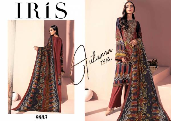 Iris Vol 9 Pure Cotton Karachi Pakistani Suits Collection