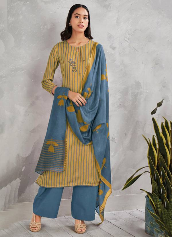 Ganga Nina Series S0251A -S0251D Pure Modal Silk Printed Embroidery Work Latest Designer Palazzo Suits Collection