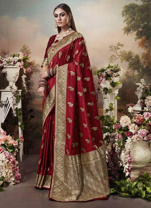 Monjolika Fashion Miharika Series 3101-3104 Banarasi Silk Oarty & Wedding Wear Sarees Collection