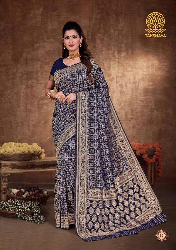Takshaya Saree Aaradhana Series A-F Art Soft Silk With Zari Weaving Party Wear Sarees Collection