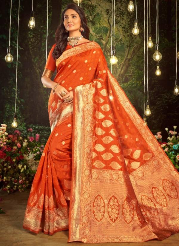 Asisa Panchi Series PANCHI-7401-PANCHI-7406 Soft Silk Beautiful Leaf Pattern With Diamond Party Wear Sarees Collection