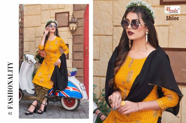 Rung Shine Heavy Rayon Printed With Manual Hand Work Readymade Salwar Suits Collection