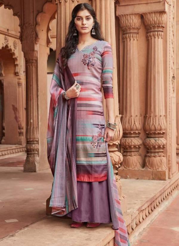 Sargam Prints Azeem Series 196-001 - 196-008 Pure Pashmina Digital Print With Khatli Work Suits Collection