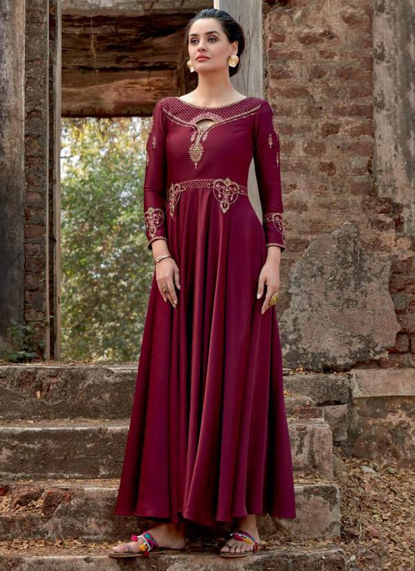 Parra Studio Ghoomer Vol 1 Series PG1001-PG1006 Silk Tapeta With Embroidery & Diamond Work Designer Gown Collection