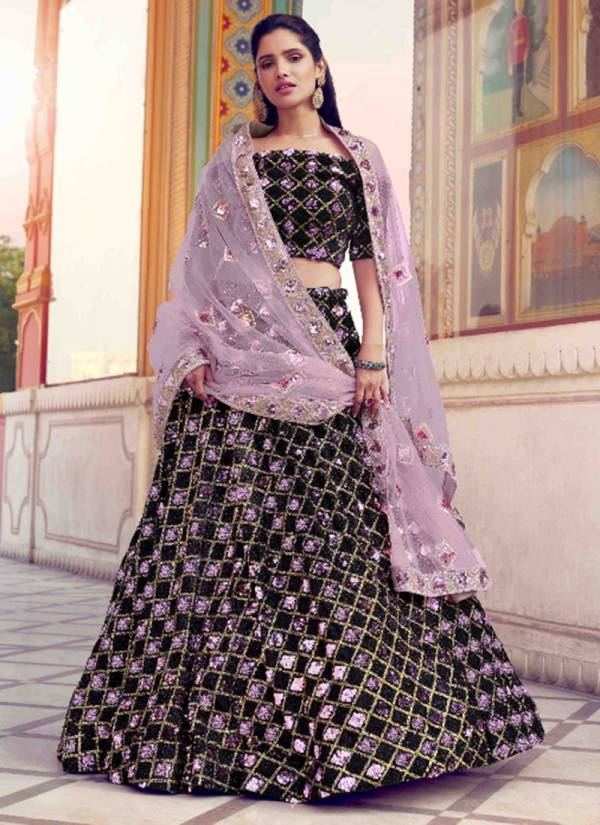 Arya Designer Khwaab Vol -1 Series 5801-5808 Fur Imported Soft Net With Sequins Party Wear Designer Lehenga Choli Collections