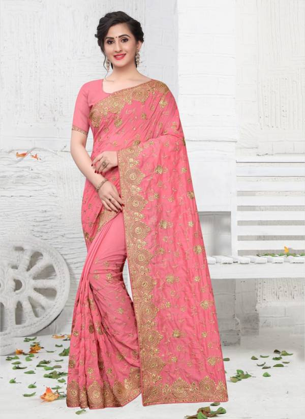 Nari Fashion Celebrity Series 711-718 Vichitra Silk Two Tone Heavy Jari & Badla Jari Embroidery Work Stylish Sarees Collection