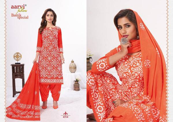 Aarvi Fashion Aarvi Batik Special Vol 14 Cotton Cambric Fancy Embroidery Work Readymade Patiyala Suit Collection