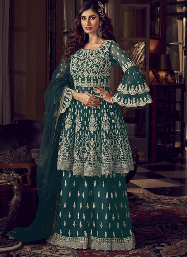Swagat SnowWhite Series 6601-6609 Butterfly Net Heavy Embroidery Work Wedding Function Sharara Suits Collection
