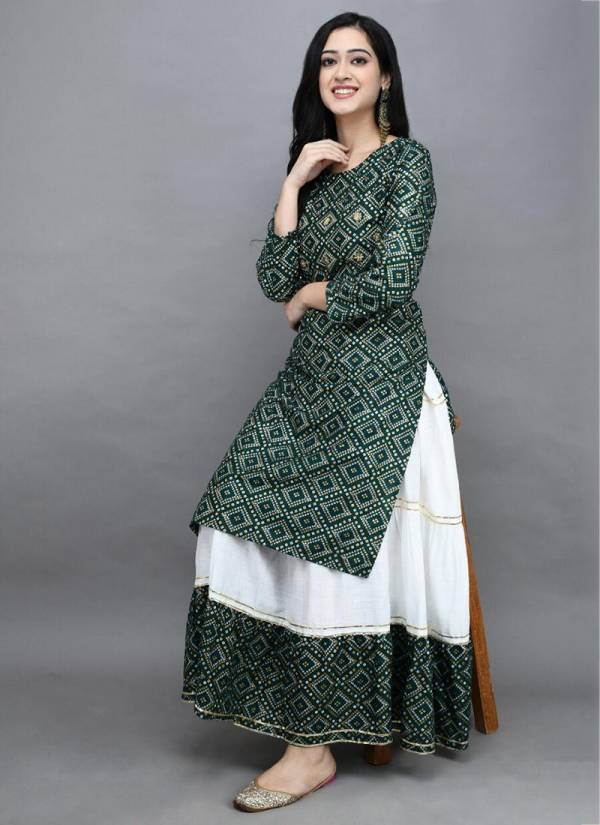 Shree Bherav Suits Series 2074-2074C Rayon Printed Casual Wear Latest Designer Kurtis With Sharara Collection