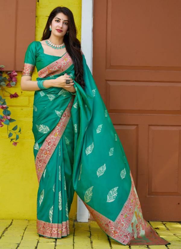 Manjubaa Premium Collection Series 4001-4006 Silk Wedding Fancy Sarees Collection