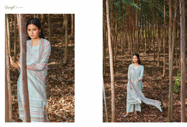 Ganga Eira Finest Cotton Printed With Embroidery Work Designer Suits Collection