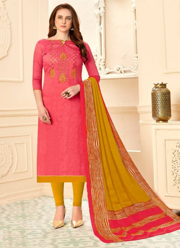 Varity Mannat Vol 56 Series 56001-56012 Glace Cotton Self Printed Banarasi Slub With Embroidery Work Latest Designer Daily Wear Churidar Suits Collection